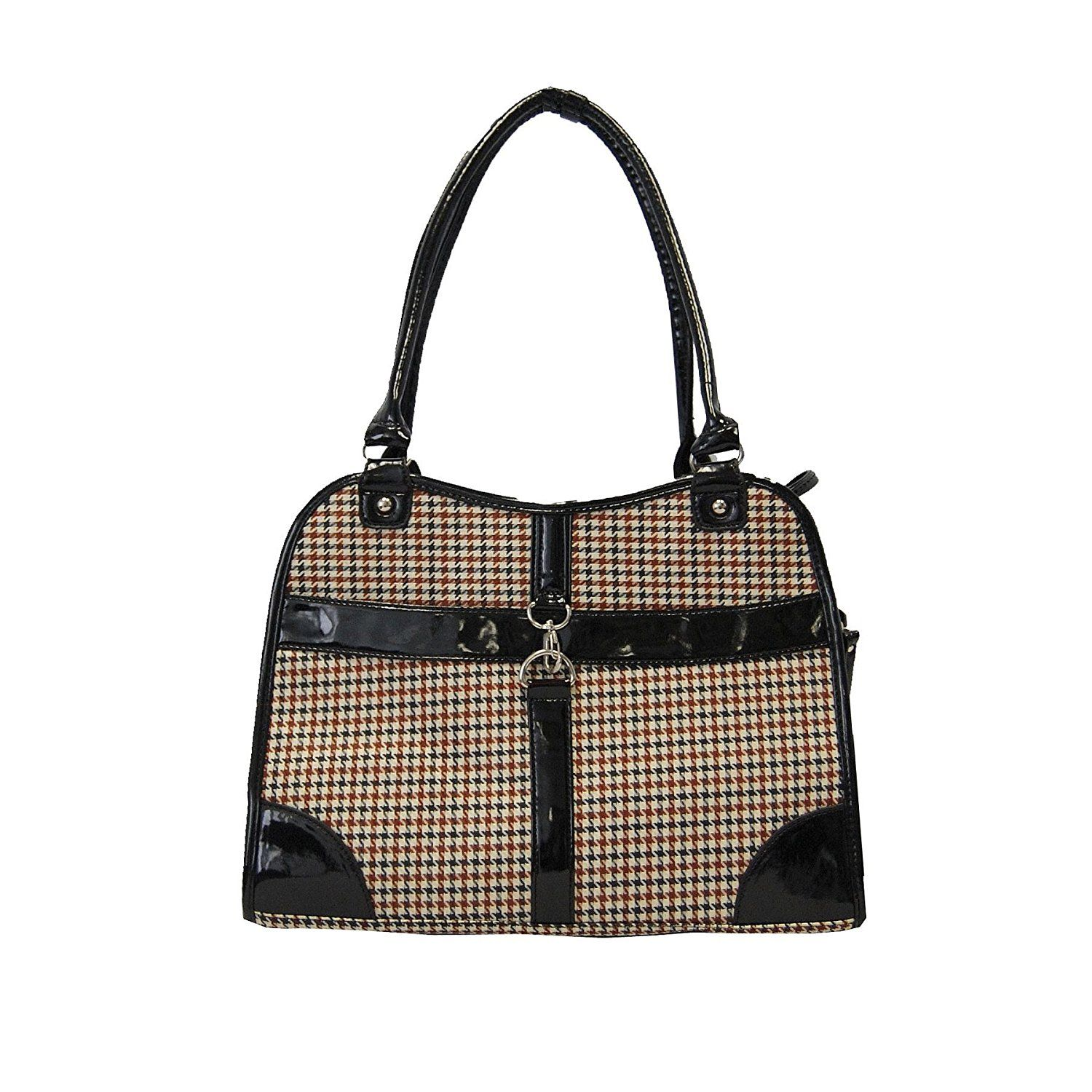 Houndstooth Print Shoulder Bag Carrier >>> Quickly view