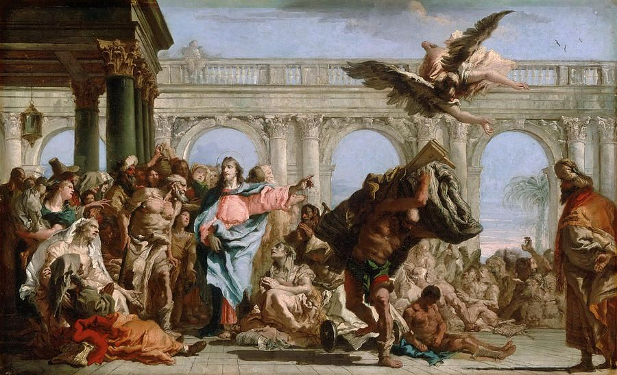 The Miracle Of The Pool Of Bethesda by Giovanni Domenico