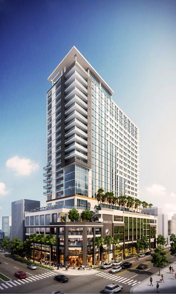 Starwood Dual Hotel With City S Highest Rooftop Bar Coming To Fort