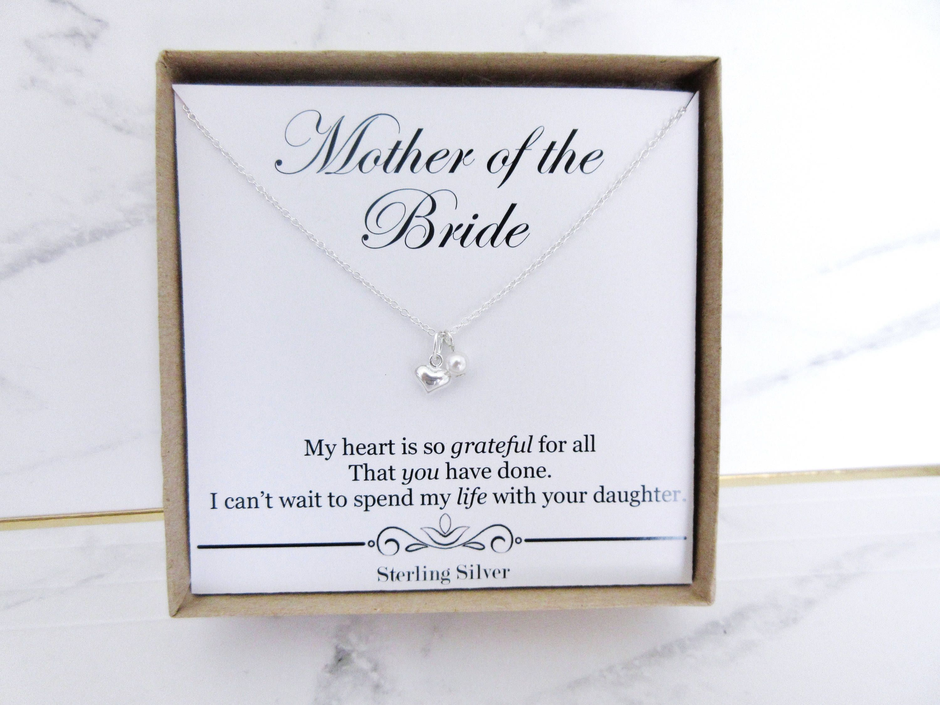 Mother Of The Bride Necklace Gift Present For