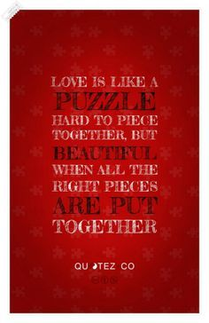 love is like a puzzle quote puzzle quotes