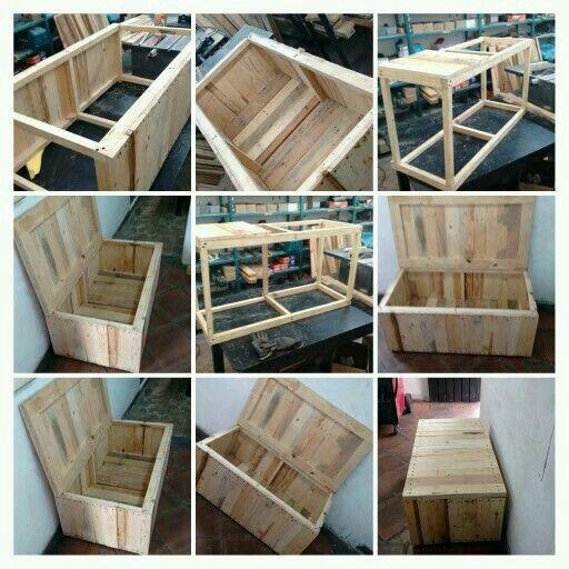 Proceso De Construccion Baul De Vera Cruz Pallets Design Deco Balcon Banquette Jardin Rangement Exterieur