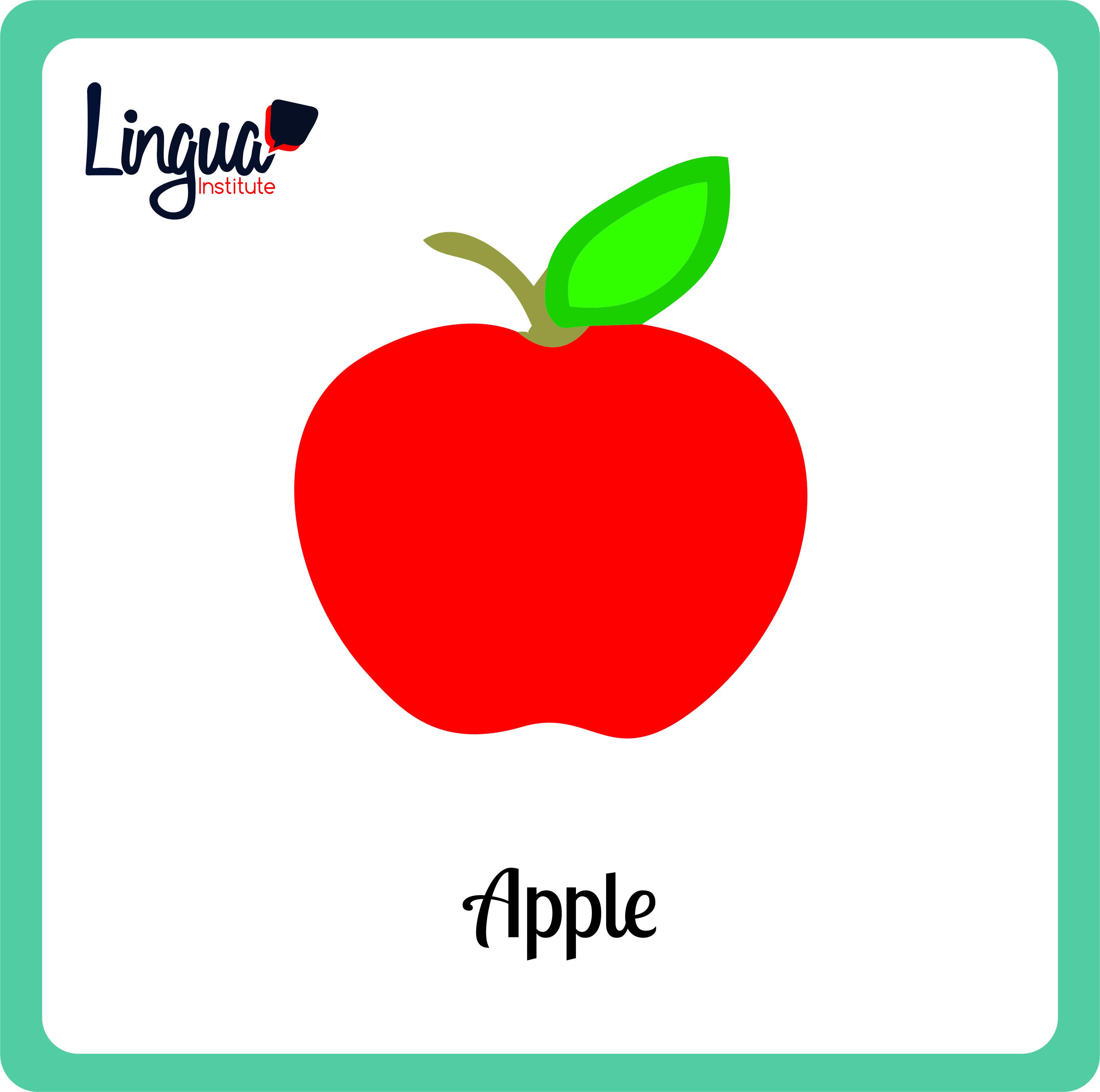 Manzana Apple Frutas En Ingles Fruits In English Lingua Institute Manzana En Ingles Aprender Italiano Aprender Frances