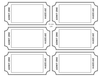 Tickets Templates. Free Printable Ticket Templates,Tickets ...