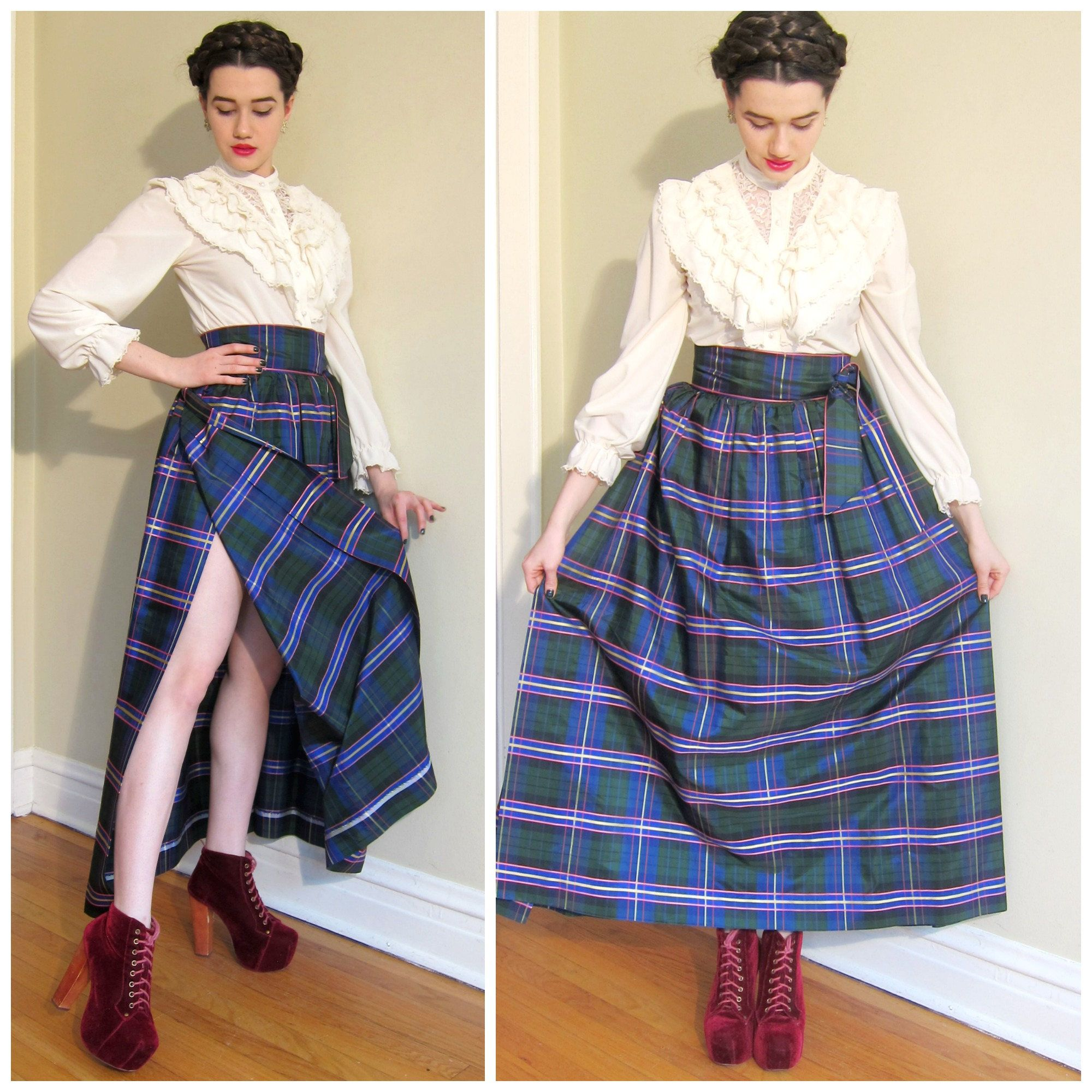 Vintage 1950s Elizabeth Arden Maxi Skirt / 50s Evening Skirt Wrap ...