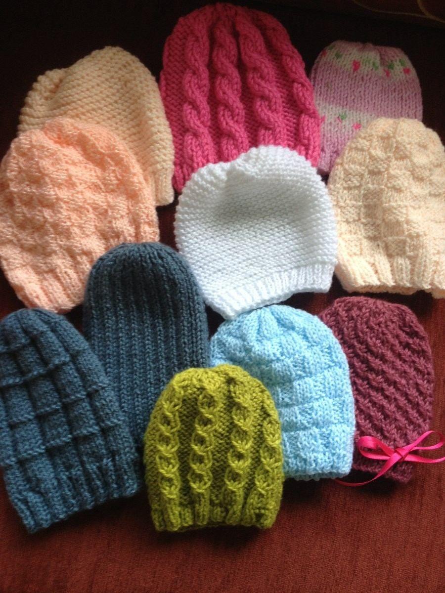 gorro bebe ni a ni o tejido a mano crochet dos agujas 0 12m ...