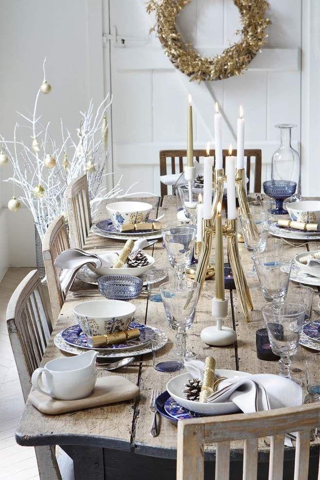 Déco Table Noël Argent Le Glamour Chic à La Table Festive
