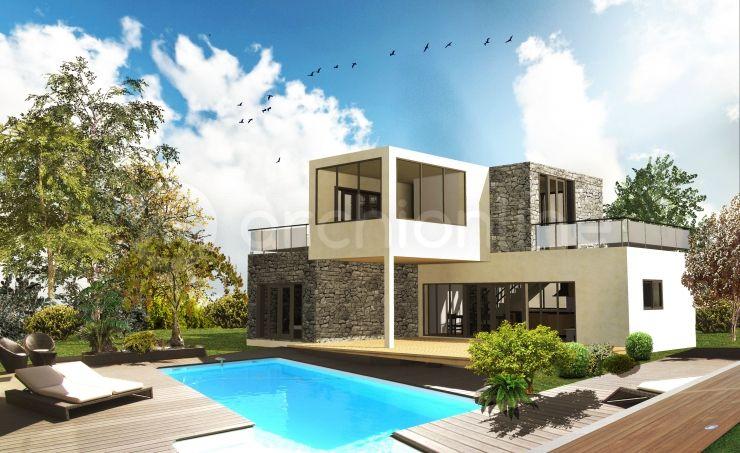 Maison Fresky - Plan de maison Moderne par Archionline #contemporary