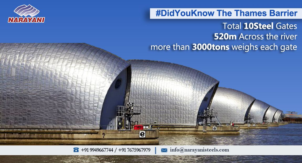 DidYouKnow The ThamesBarrier spans 520 metres across the