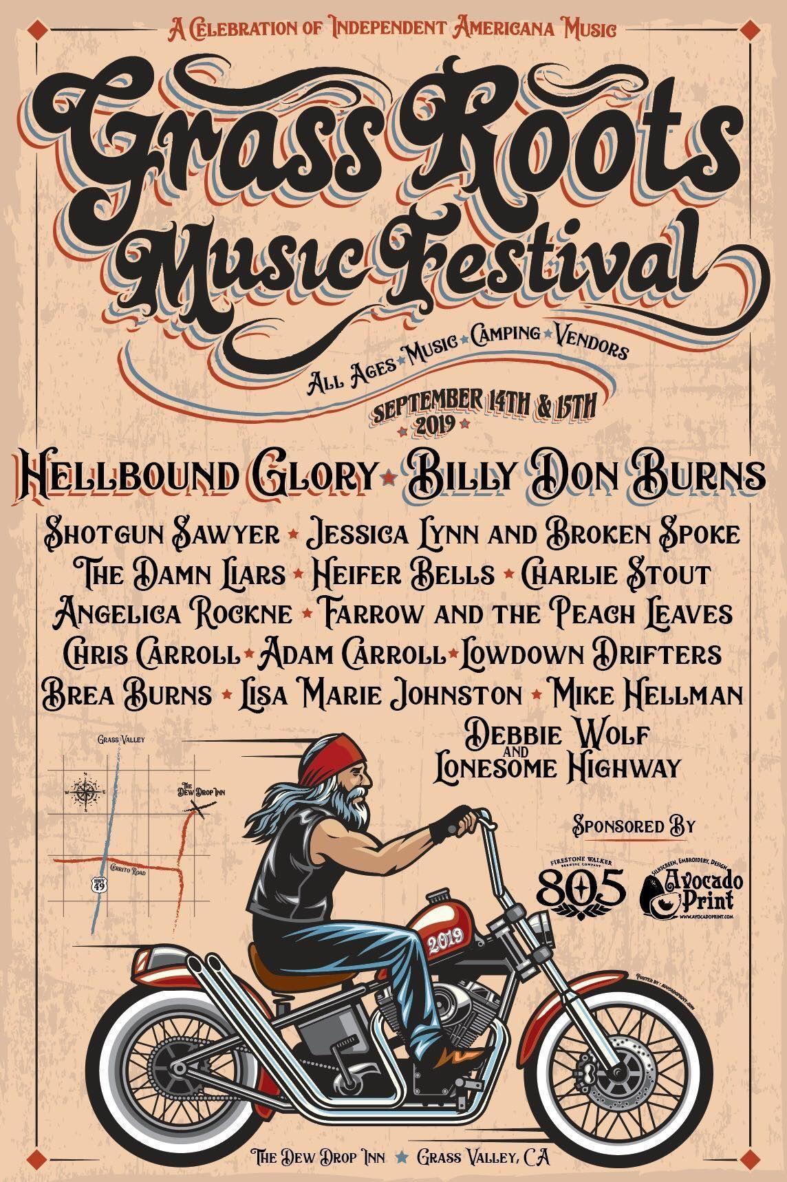 The Grass Roots Music Festival, Dew Drop Inn, Grass Valley