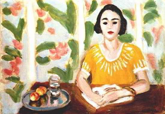 Woman Reading With Peaches, 1923 - Henri Matisse (French, 1869-1954)