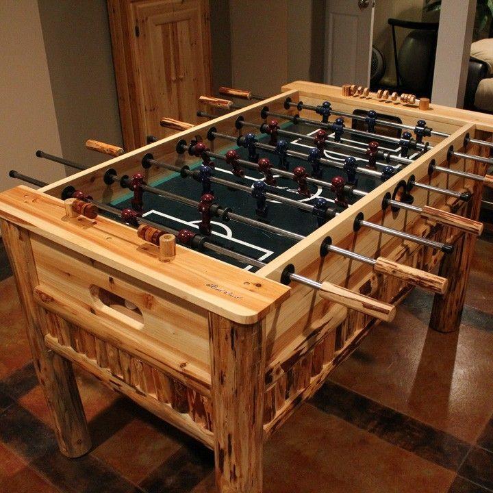 Log Foosball Table | Cabin Decor | Rustic Game Room | Followpics.co