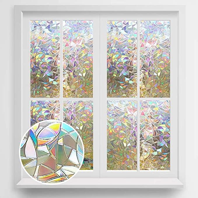 Amazon Com Rabbitgoo Window Privacy Film Stained Glass Window
