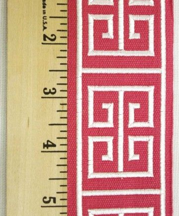 Hot Pink Greek Key Trim, a must for home decor banding