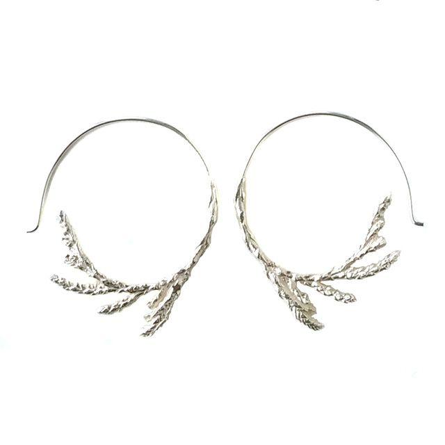 Sterling Silver Cedar Hoop Earrings | Made You Look