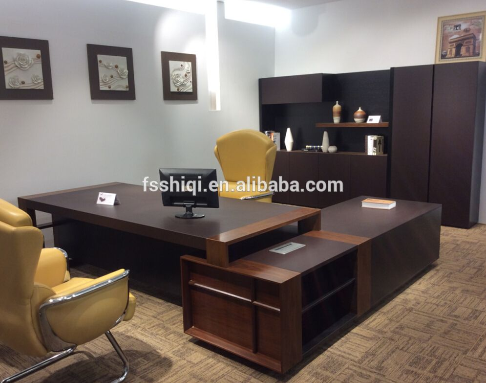 China Manufacturer Hot Sale Office Furniture Wooden Mdf Executive Desk Manager Table Boss Photo