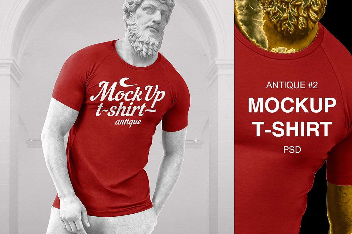 Download 4 Mockups Of T Shirt Antique 2 Shirt Mockup Mockup T Shirt