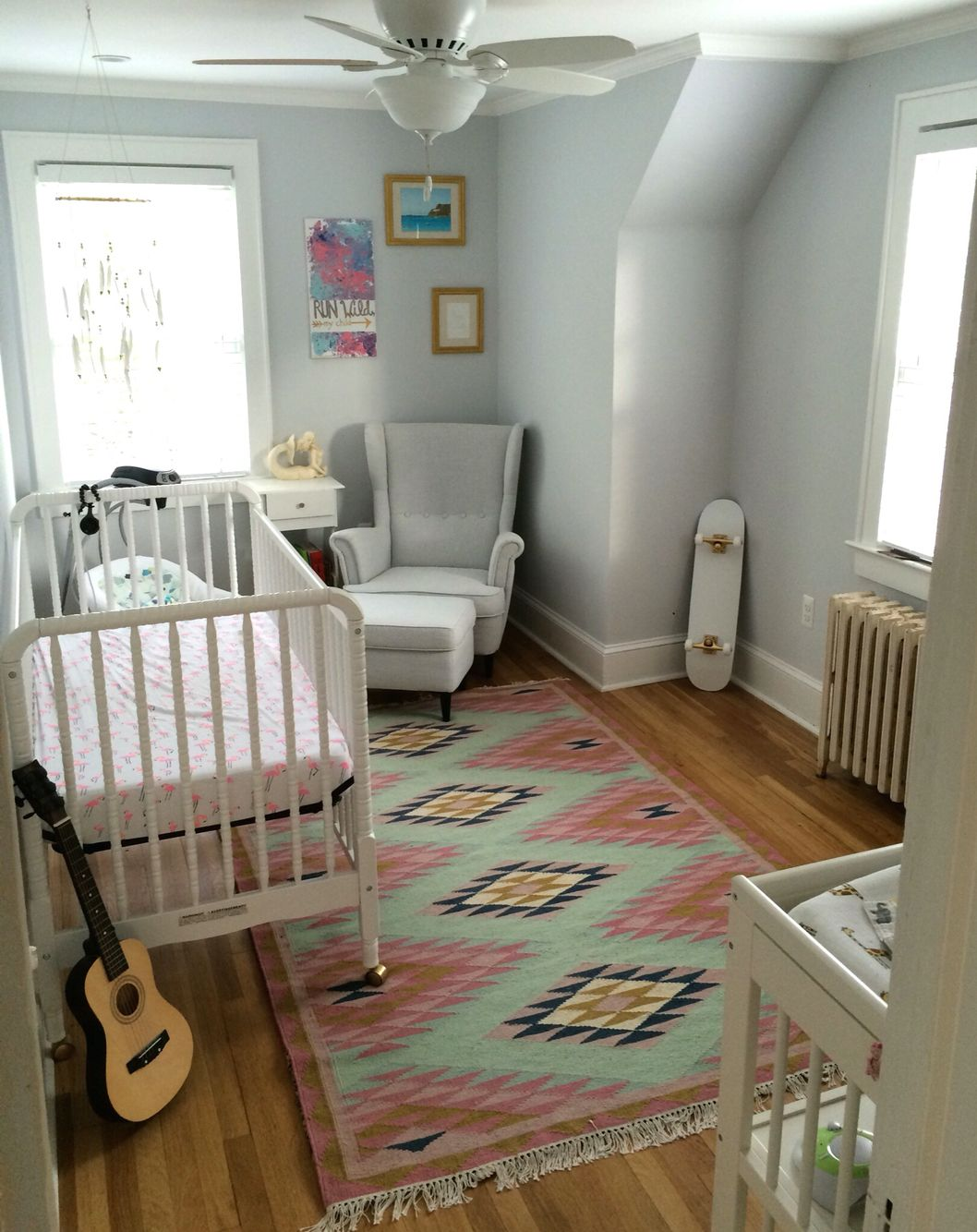 refreshed this old house to create a neverland nursery for our