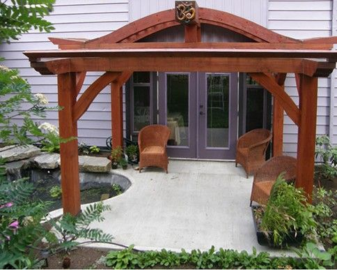 Japanese decks designs water dragon pergola front for Japanese garden trellis designs