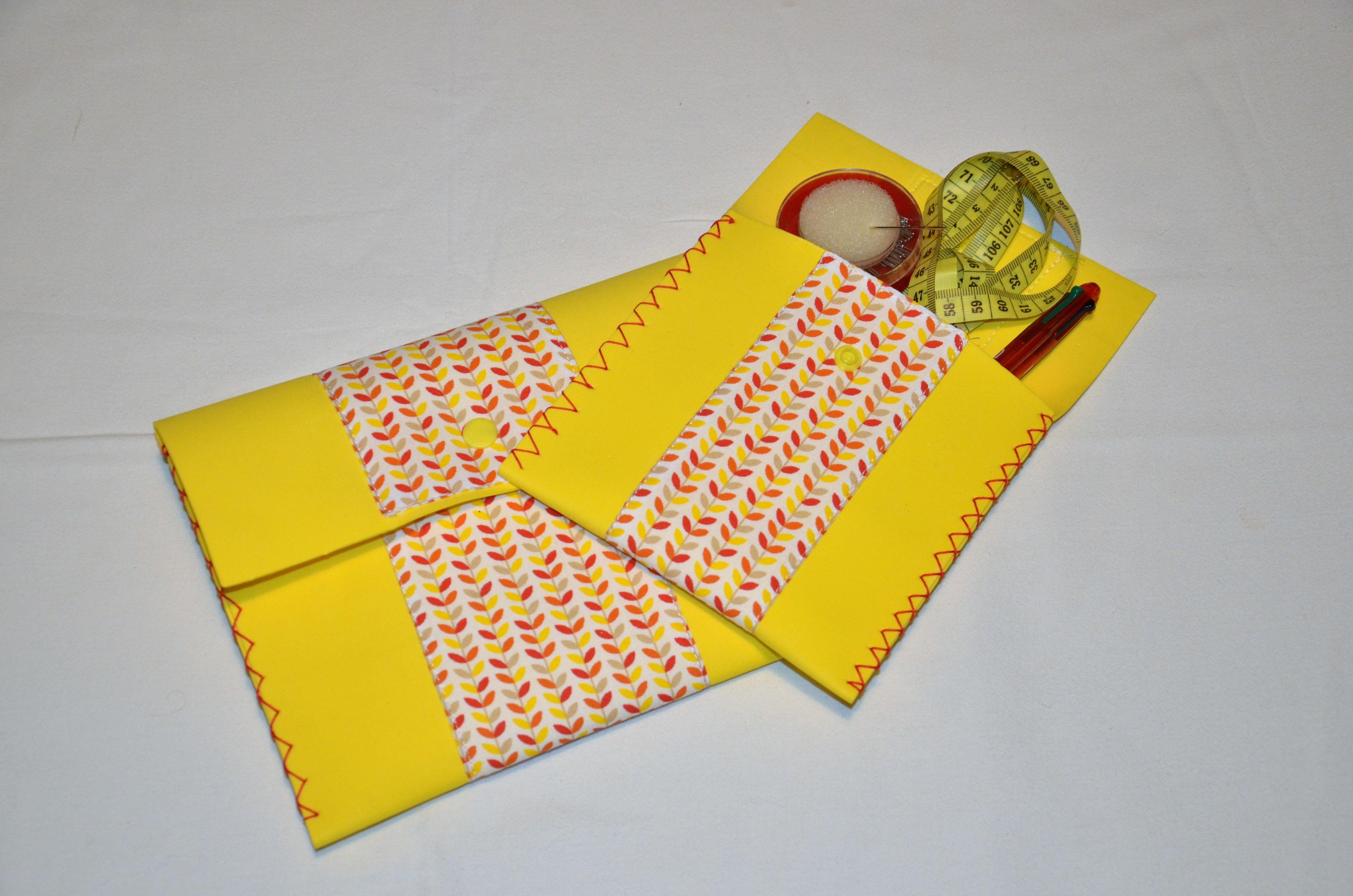 """Kit """"Pochettes x2""""  kit couture pour enfants www.e-toile26.com"""