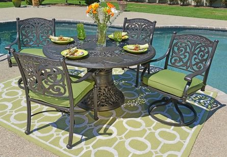 The Byanca Collection 4-Person All Welded Cast Aluminum Patio ...