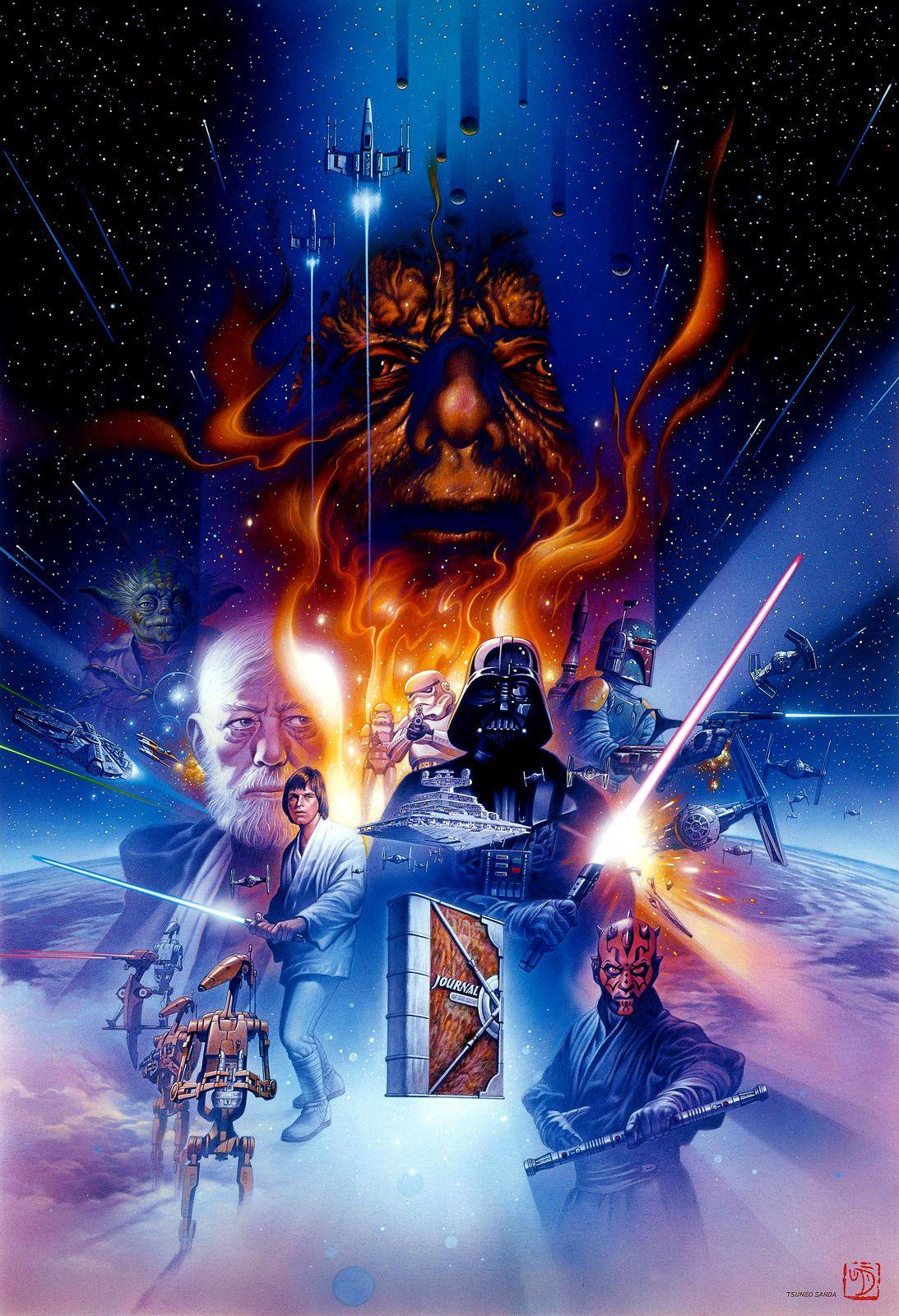Darth Vader Star Wars Original Art Sandaworld Com The Art Of Tsuneo Sanda Star Wars Original Art Star Wars Images Star Wars Artwork