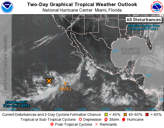Eastern Pacific 2 Day Graphical Tropical Weather Outlook With Images Tropical National Hurricane Center Weather