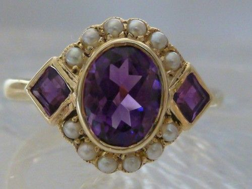 This makes me feel all Anne of Green Gables-y.....the soul of violets, and pearls which were her engagement ring....