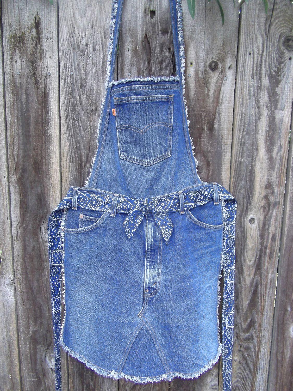 reciclando jeans | delantales | Pinterest | Schürzen, Nähen und Jeans