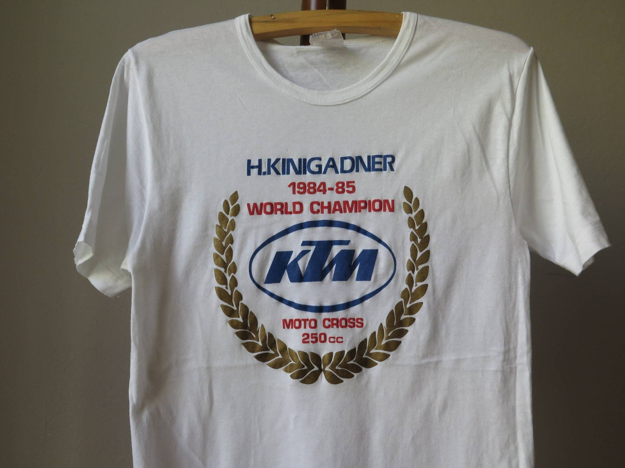 Vintage Ktm Motocross Tshirt 80s Motocross Tee Ktm Motocross Etsy In 2020 T Shirt Champion Tees Ktm Motocross