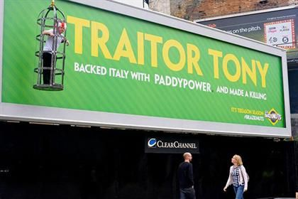 Paddy Power: runs World Cup 'traitor' stunt.