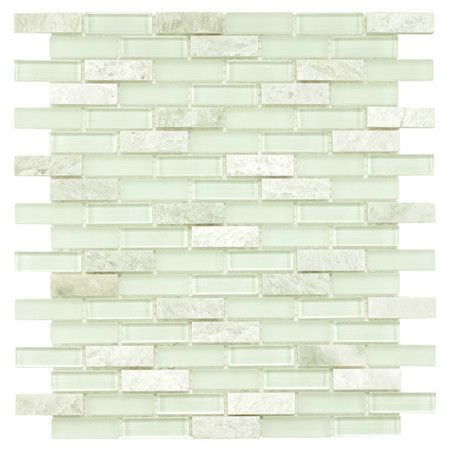 Create a chic backsplash or stylish wall with this glass and stone subway tile, the perfect finishing touch for your kitchen or master bath....On Joss and Main - a possibility for kitchen backsplash
