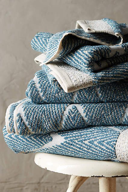Woven chevron towel collection cotton towels and