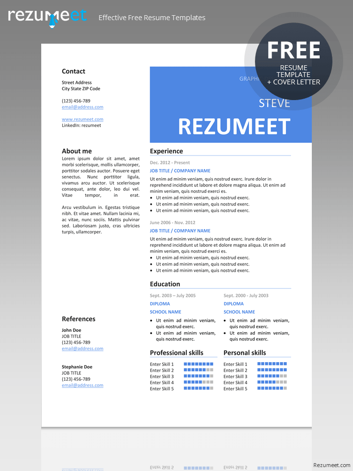 Free Professional Resume Template Classic Resume Templates