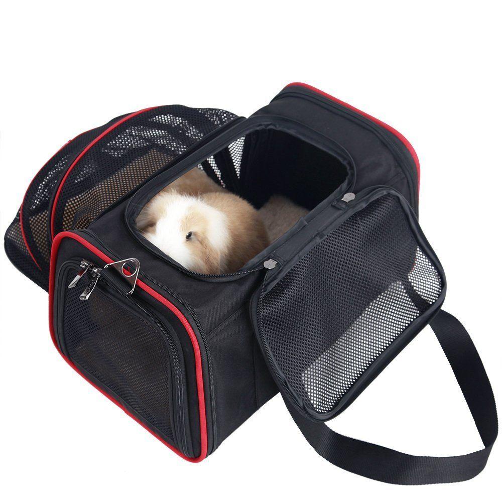 Petsfit Expandable Travel Dog Carrier with Fleece Mat