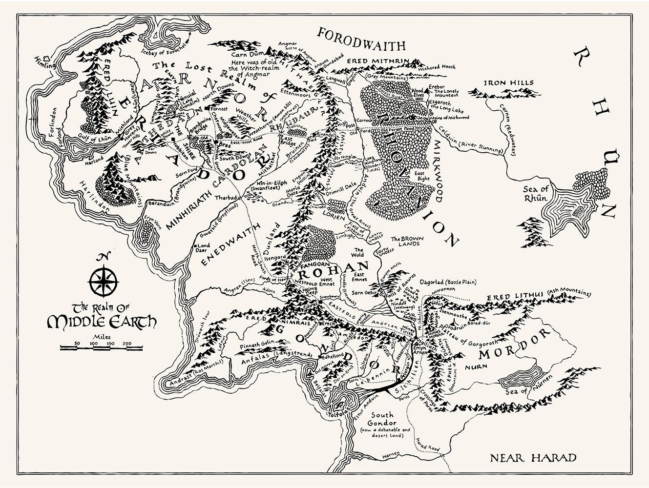 Middle Earth Map Tattoos Middle Earth Map Middle Earth Map Design
