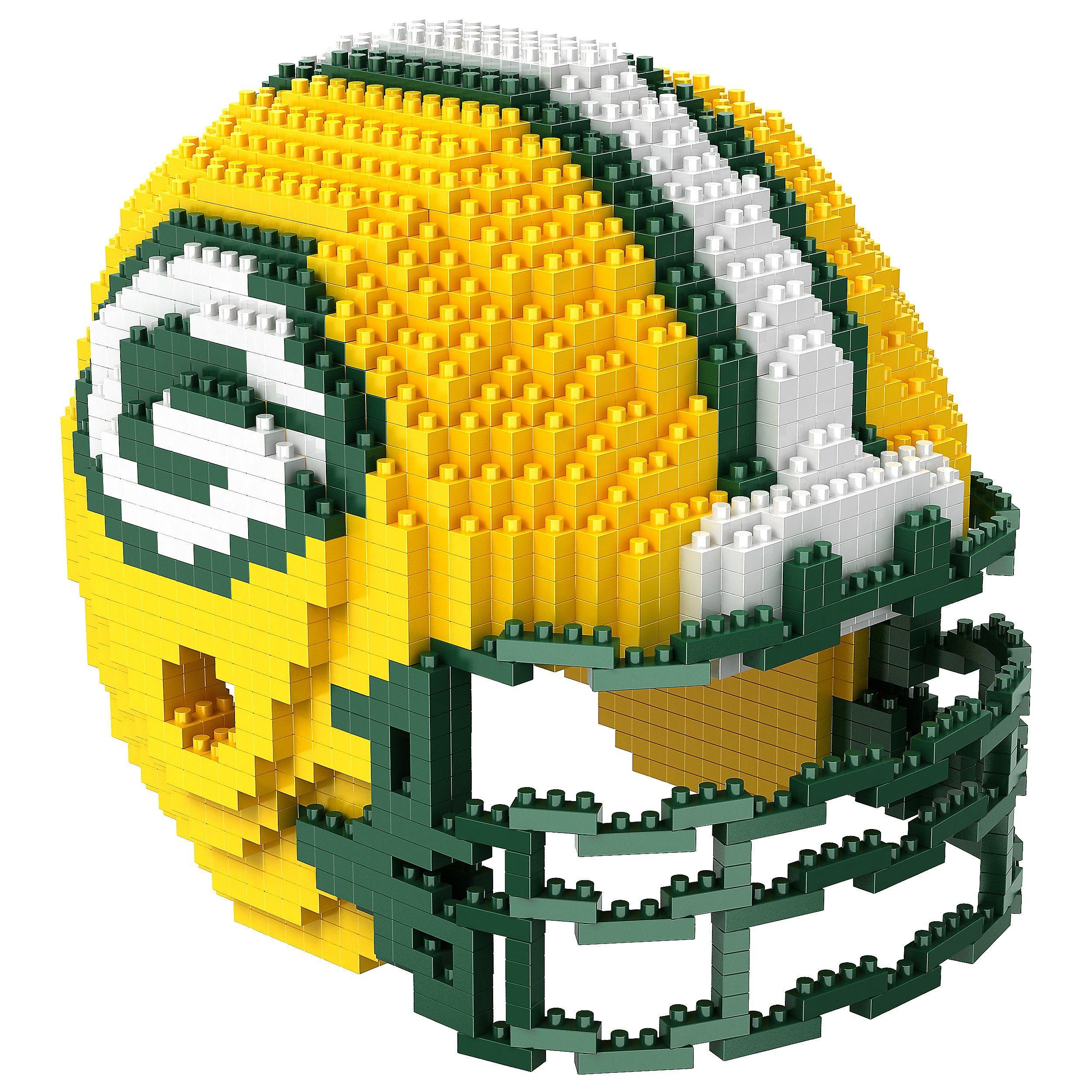 Green Bay Packers 3d Brxlz Helmet Construction Toy Green Bay Packers Helmet Nfl Packers Nfl Green Bay