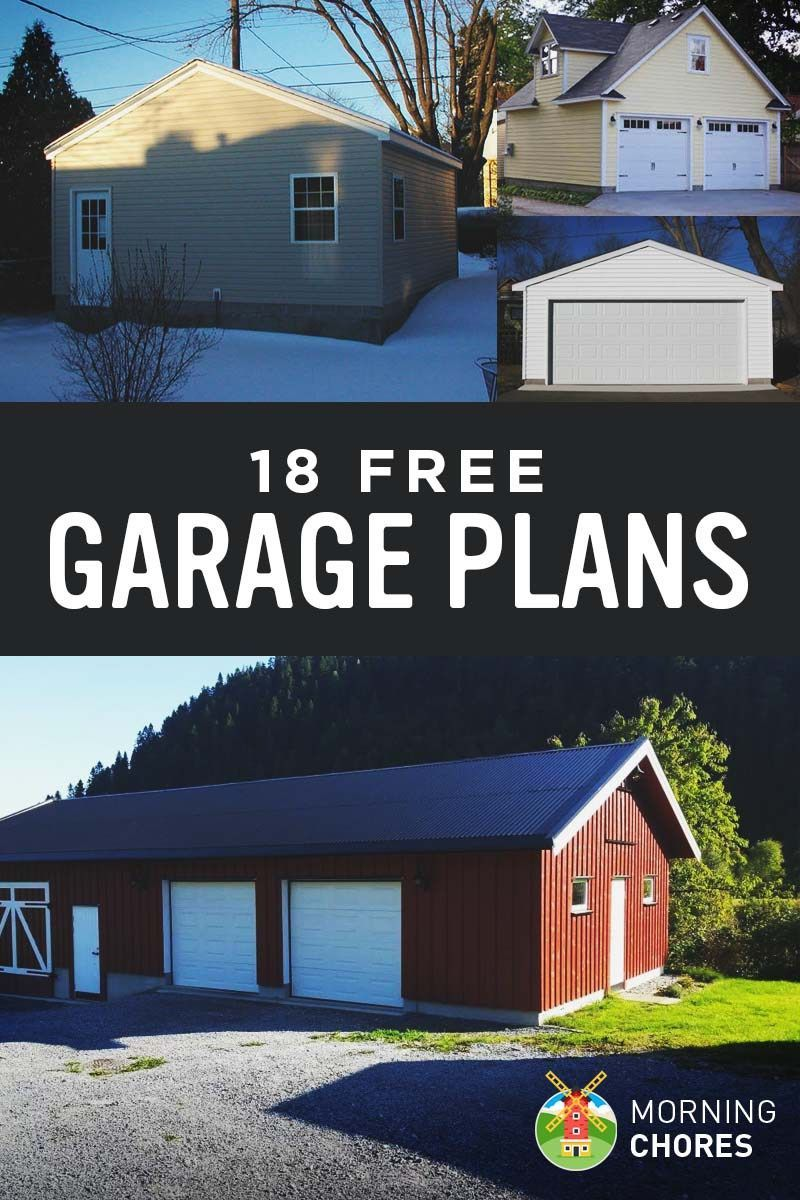 18 Free Diy Garage Plans With Detailed Drawings And Instructions Garageplans 18 Free Diy Garage Plans With Detaile Diy Garage Plans Garage Design Garage Decor