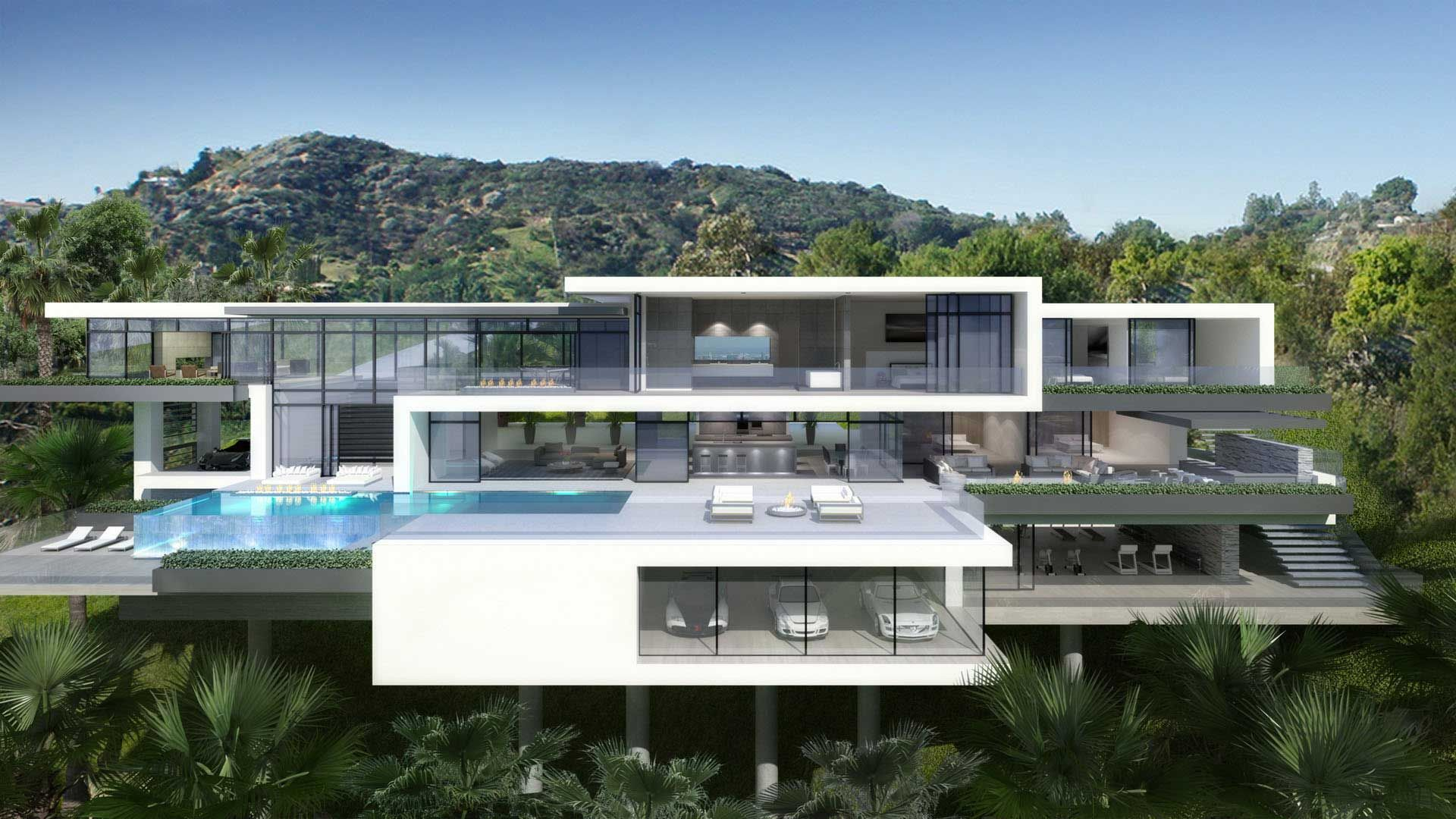 Luxury ultramodern mansions on sunset plaza drive in los angeles http www