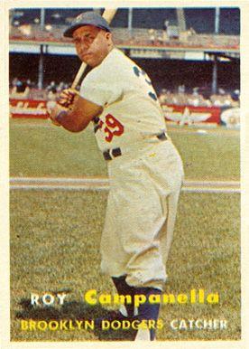 1957 Topps Roy Campanella 210 Baseball Card Value Price Guide Baseball Cards Old Baseball Cards Baseball