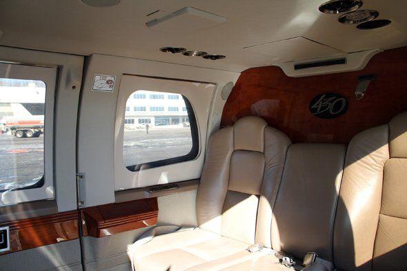 Private Helicopter interior