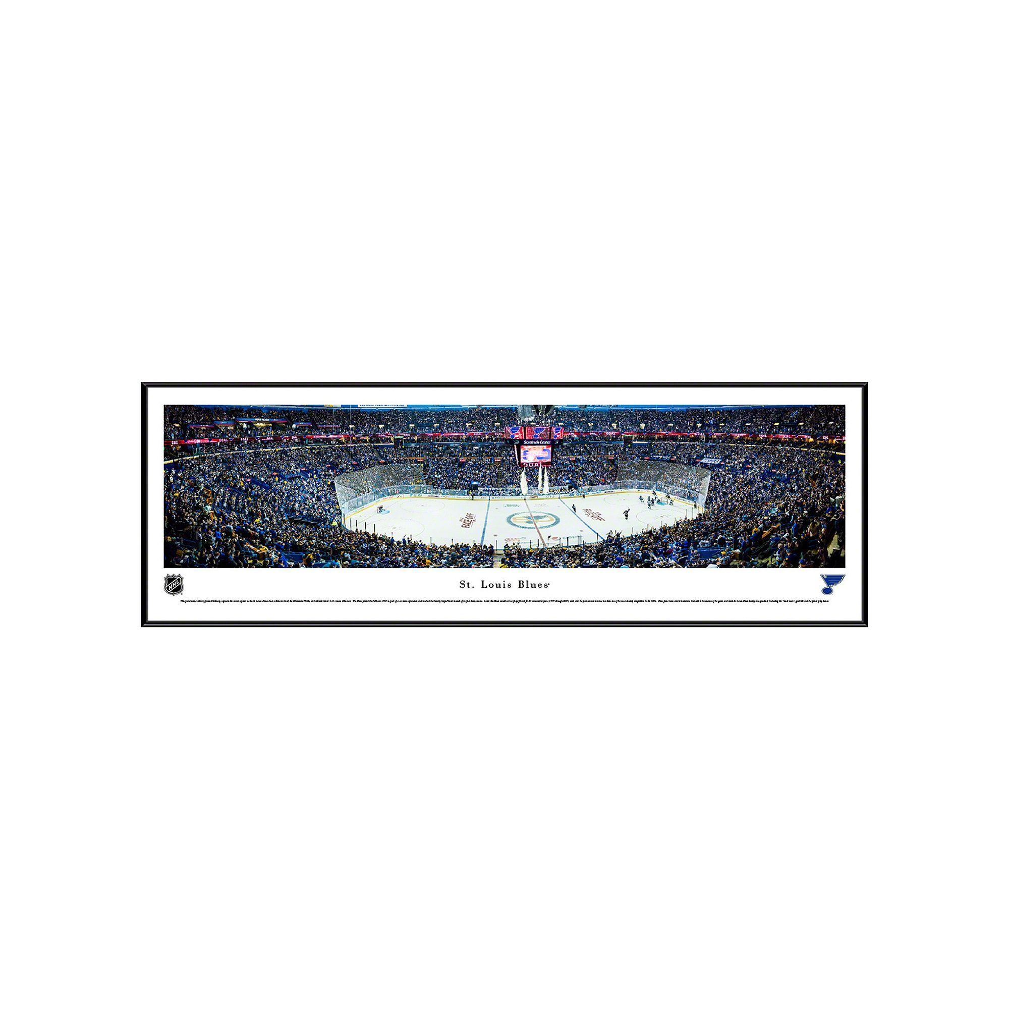 St louis blues stadium center ice framed wall art multicolor