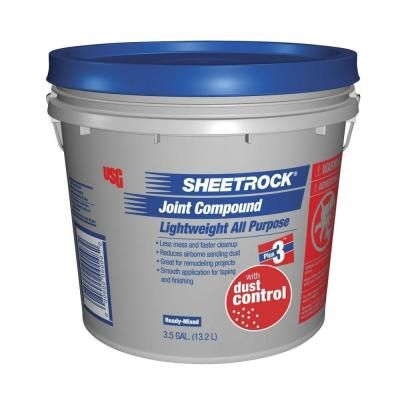 Usg Sheetrock Brand 3 5 Gal Dust Control Pre Mixed Joint Compound 380059048 The Home Depot Joint The Home Depot Compounds