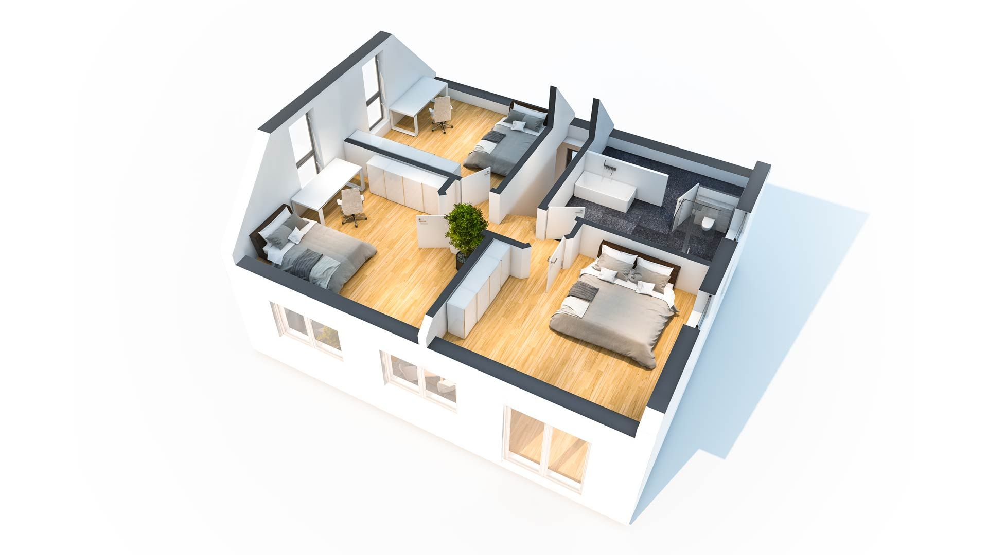Hausidee Esche Grundriss, Einfamilienhaus, Haus