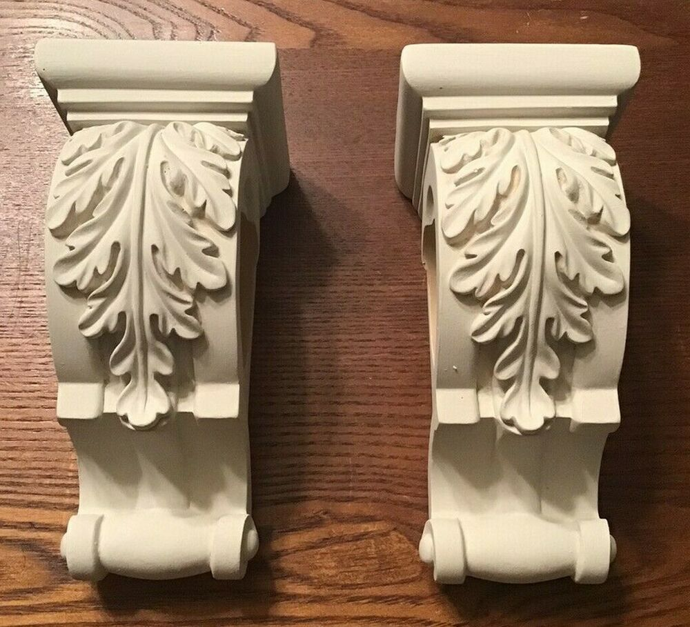 One Pair Of Pretty Curtain Rod Sconces Unbranded Cottage