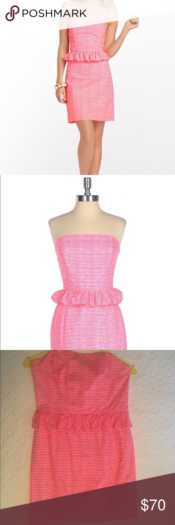 Lilly Pulitzer Pink Peplum Dress