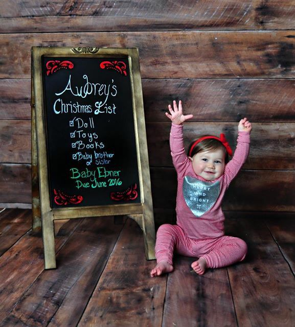 2nd pregnancy announcement christmas