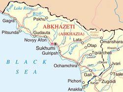 Map Of Russia And Georgia.Abkhazia Map Abkhazia Disputed Territory Russia Georgia