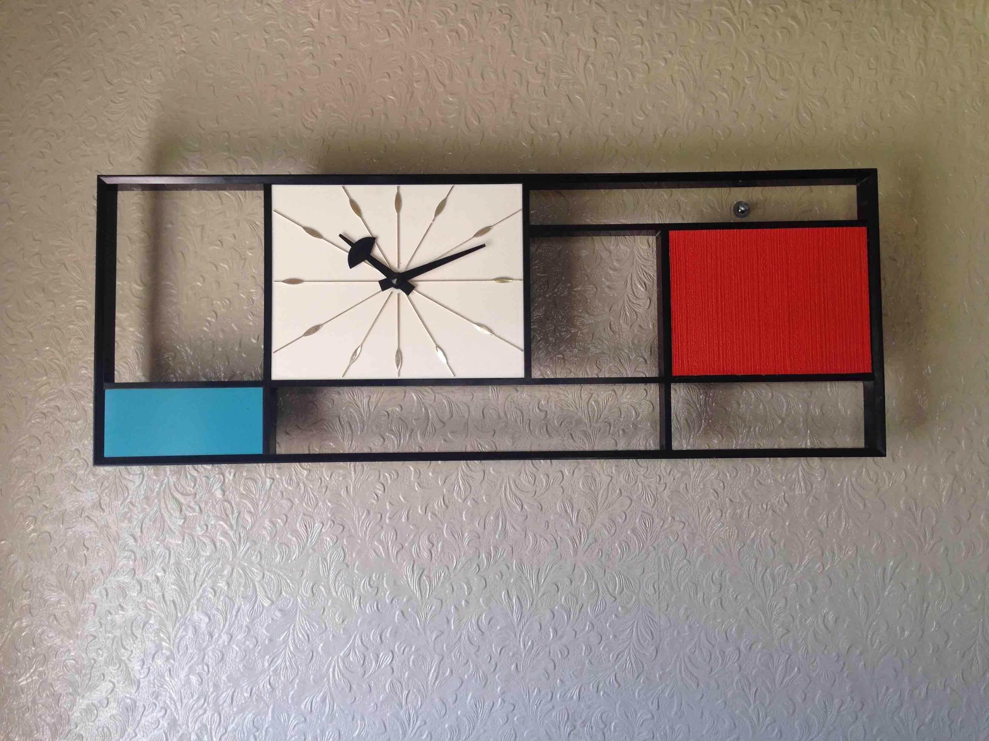 Mondrian Wall Mondrian Wall Clock From Sunbeam Wanted Iconic Pieces
