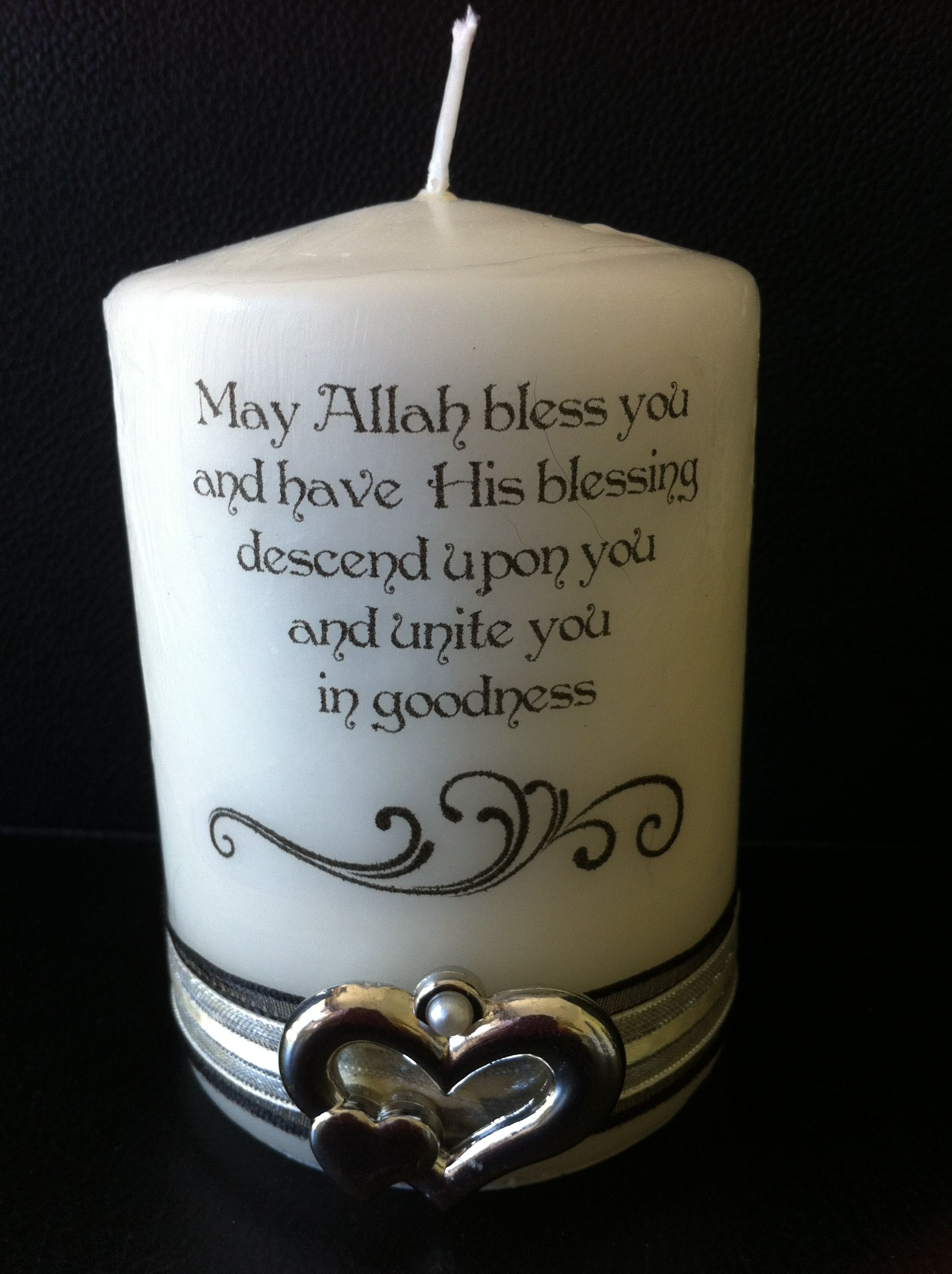 Nikah Candle Muslim Wedding Personalised Muslim Wedding